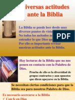 Diversas Actitudes Ante La Biblia