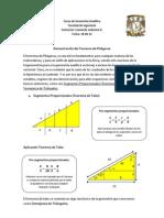 Demostración del Teorema de Pitágoras