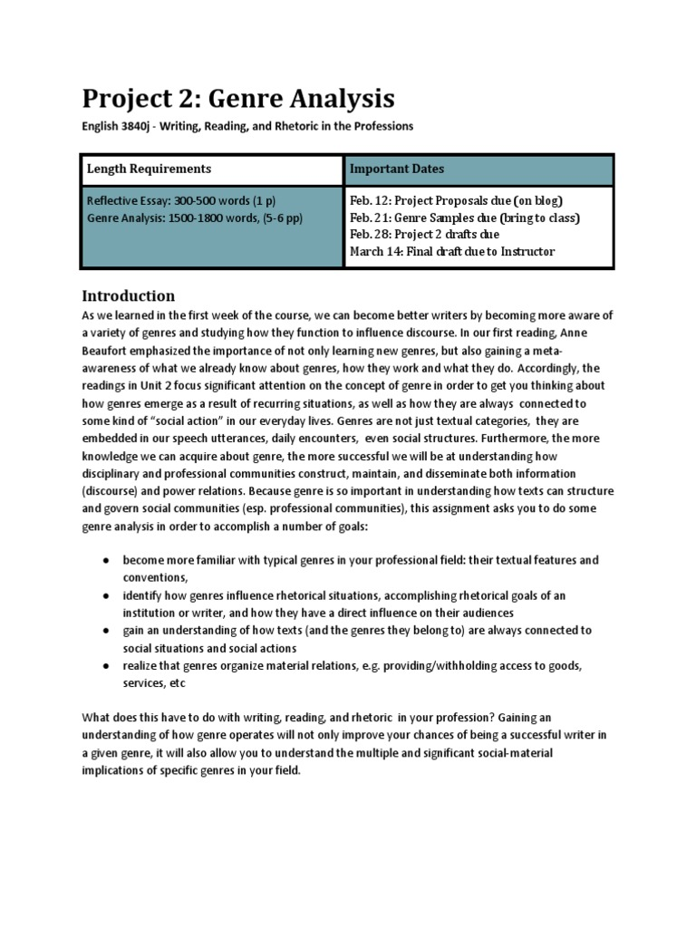 genre analysis assignment genre essays