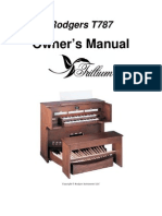 OrganManual Rodgers Model T787 Trillium Eng
