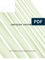 Checklist and Forms