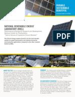 Silicon Energy NREL Summary