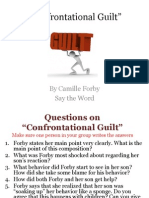Confrontational Guilt STW Questions