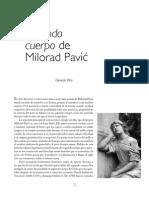 """Segundo cuerpo de Milorad Pavic"" por Gerardo Piña"