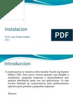 instalacion Oracle Express