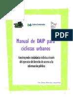 Manual de Derecho de Acceso a la Información Pública (DAIP) para ciclistas urbanos