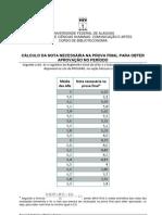 20091214 Calculo Nota Prova Final Aprovacao