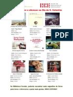 Sugestões de livros para ler e oferecer -  Dia de S. Valentim