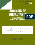 Analysis of Surfactants - T. Schmitt