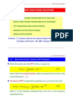 Speech analysis and synthesis for STFT