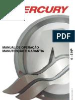 Manual de Proprietario Do Motor de Popa Mercury 4-5HP b