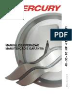 Manual de Proprietario Do Motor de Popa Mercury 40-50-60 HP 4T EFI b
