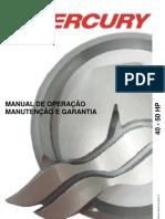Manual de Proprietario Do Motor de Popa Mercury 40-50HP b
