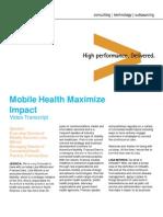 Accenture Mobile Health Maximize Impact Transcript