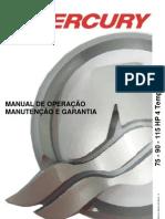 Manual de Proprietario Do Motor de Popa Mercury 75-90-115 HP 4T EFI b