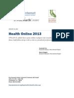 Pew Internet Health Online Report