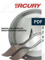 Manual de Proprietario Do Motor de Popa Mercury 75-90-115-125 HP (Carburado) b