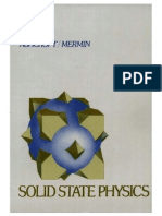 Solid State Physics Ashcroft and Mermin