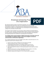 Alabama Broadcasters Association Scholarship application
