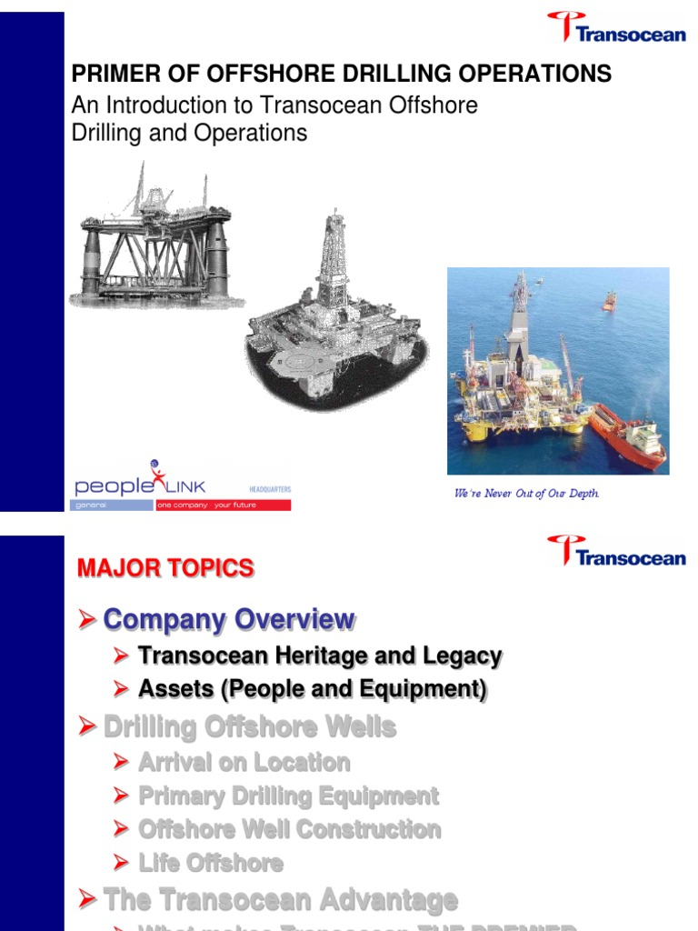 An Introduction to Transocean Offshore Drilling and