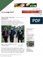 Tony Judt_ the last interview