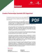 Media release - Creative Partnerships Australia CEO Appointed - 6 February 2013