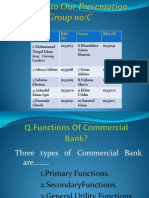 Functions of Commercial Bank & Nationalized Bank.