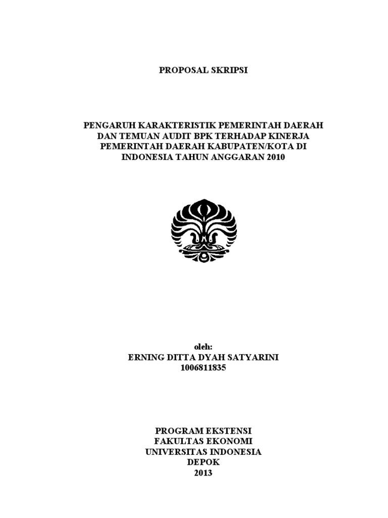 Diaheilind Proposal Penelitian Akuntansi Sektor Publik