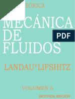 Landau Y Lifshitz - Fisica Teorica Vol 6 - Mecanica de Fluidos