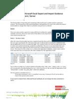 MS Excel Export Import Guidance Primavera 6