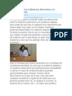 Diferencias entre la Medicina Alternativa y la Medicina Alópata
