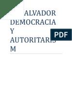 El Salvador Democracia y Autoritarismo