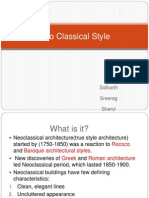 Features of neo classical style