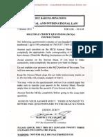 2012 BAR EXAM POLITICAL & INTERNATIONAL LAW  MCQs