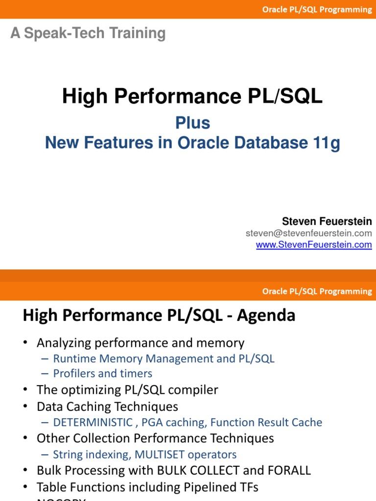 Oracle high performance plsql plus 11g plsql oracle database baditri Choice Image