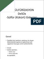 DESÜLFÜRİZASYON