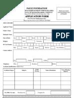 Application Form Fauji Foundation
