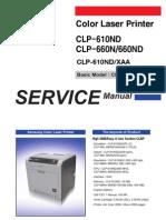 Samsung CLP-610-660 service Manual