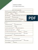 Exercice de Grammaire