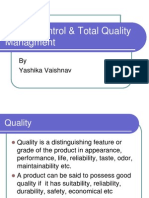 Quality Control & TQM