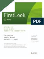 3TIER FirstLook Wind Standard Sample
