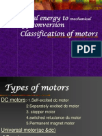 different type of electrical motors