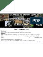 Sponsoring Trial 2013-1