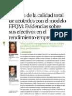 Gestion de La Calidad Total de Acuerdon Con El Modelo EFQM-Paper