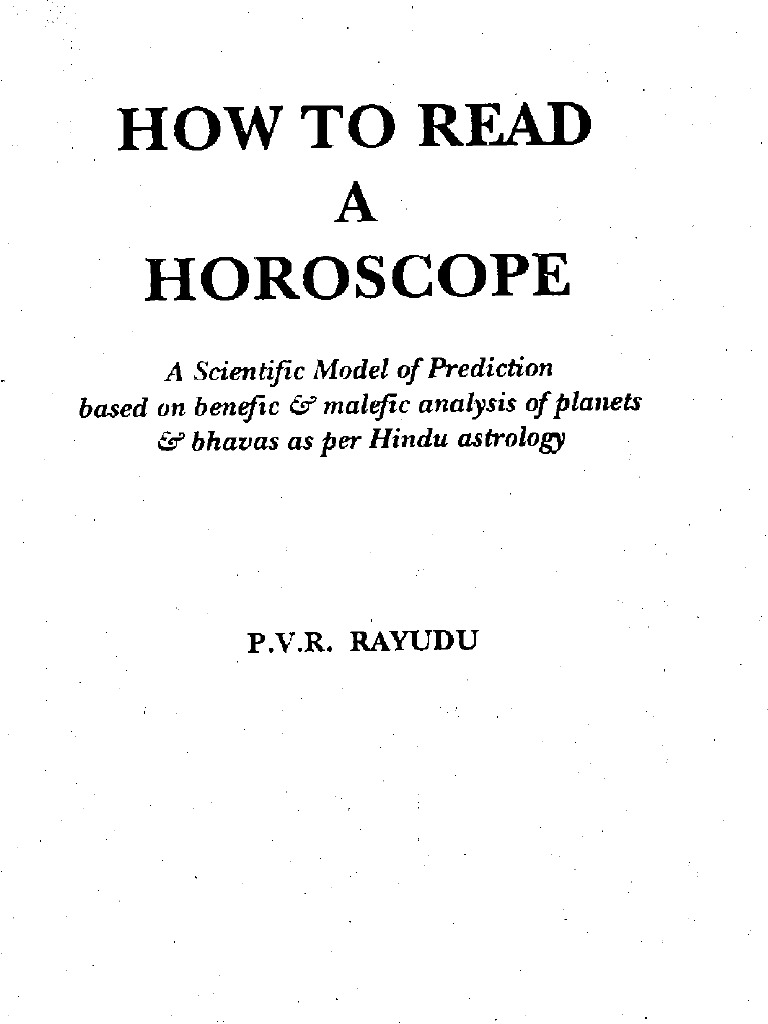 P V R  Rayudu - How to read a horoscope   Planets In