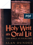 Alan Dundes - Holy Writ as Oral Lit - The Bible as Folklore [1999]