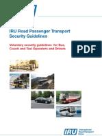 IRU Road Passenger Transport Security Guidelines