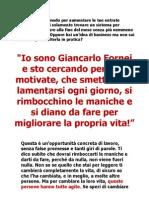 Entra nel Team di Giancarlo Fornei