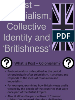 Post-colonialism and Britishness in the media