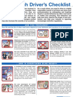 The Coach Driver's Checklist